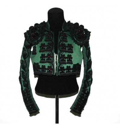 traje-de-luces-de-torero-verde-botella-azabache