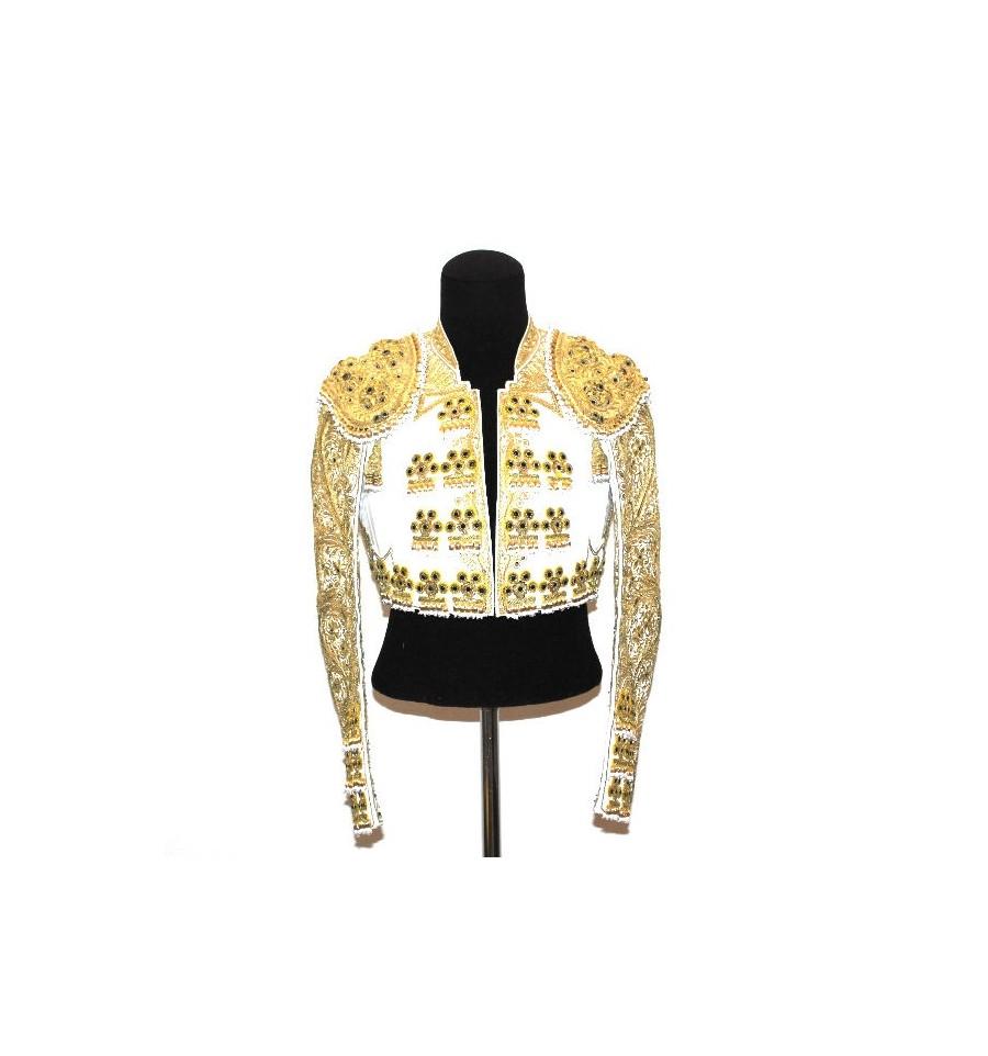 traje de luces blanco y oro ii frente, Traje de Torero