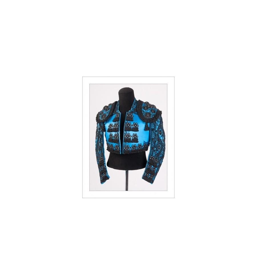 traje de torero azul y azabache, Traje de Torero